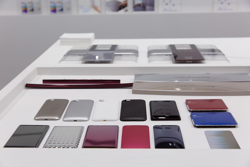 ブースデザイン3次元表面加飾技術展の様子